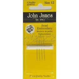 JJ10712 Bead Embroidery - Короткі голки для вишивки бісером (Розмір - 12)