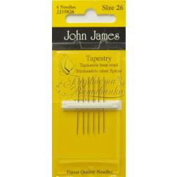JJ19826 Tapestry - Голки для вишивки хрестиком з великим вушком та тупим кінцем (Розмір - 26)