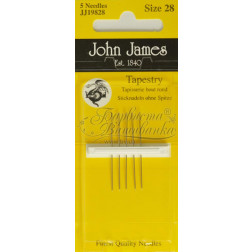 JJ19828 Tapestry - Голки для вишивки хрестиком з великим вушком та тупим кінцем (Розмір - 28)