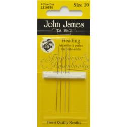 JJ10510 Beading - Набір довгих голок для вишивки бісером 10 розміру