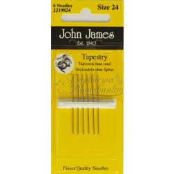 JJ19824 Tapestry - Голки для вишивки хрестиком з великим вушком та тупим кінцем (Розмір - 24)