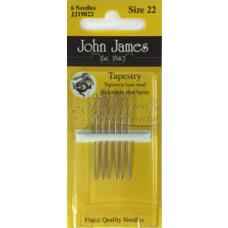 JJ19822 Tapestry - Голки для вишивки хрестиком з великим вушком та тупим кінцем (Розмір - 22)