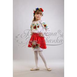 ПД005кБ40ннh Комплект ниток ДМС до дитячого плаття, вишиванки