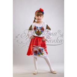 ПД008кБ40ннh Комплект ниток ДМС до дитячого плаття, вишиванки