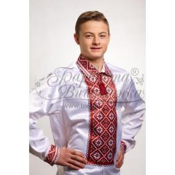 СЧ008кБннннb  Комплект чеського бісеру Preciosa до чоловічої сорочки - вишиванки