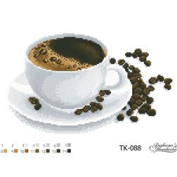 ТК088ан3322 Бісерна заготовка для вишивання схеми-картини Запашна кава 33 см x 22 см