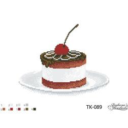 ТК089ан3322 Бісерна заготовка для вишивання схеми-картини Ніжне тістечко 33 см x 22 см