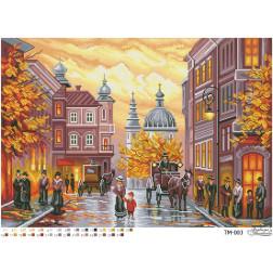 ТМ003ан6143 Бісерна заготовка для вишивання схеми-картини Осіннє ретро 61 см x 43 см