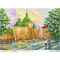 ТМ004ан6143 Бісерна заготовка для вишивання схеми-картини Тихе надвечір'я 61 см x 43 см