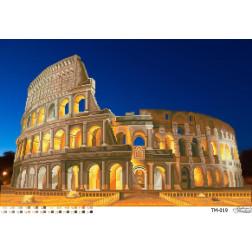 ТМ019ан6443 Бісерна заготовка для вишивання схеми-картини Колосальний Колізей (Рим, центр міста) 64 см X 43 см