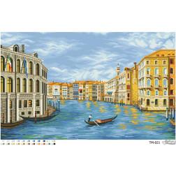 ТМ021ан6842 Бісерна заготовка для вишивання схеми-картини Місто на воді (Венеція, Італія) 68 см X 42 см