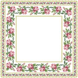 ТР038аБ5656 Заготовка для вишивання скатертини Рожеві Троянди 80 см Х 80 см