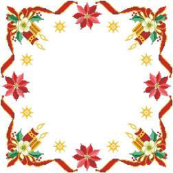 ТР149аБ5252 Заготовка для вишивання новорічної скатертини Новорічна квітка 80 см Х 80 см