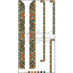 ВД004кБннннb Комплект чеського бісеру Preciosa до дитячої вставки, вишиванки