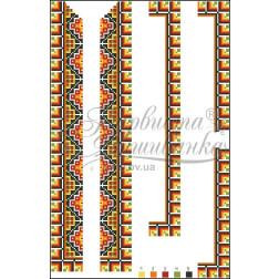 ВД011кБннннb Комплект чеського бісеру Preciosa до дитячої вставки, вишиванки