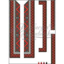ВД015кБннннb Комплект чеського бісеру Preciosa до дитячої вставки, вишиванки