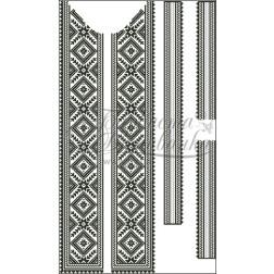 ВЧ006кБннннh Комплект ниток ДМС до чоловічої вставки – вишиванки