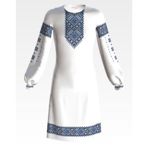 Заготовка дитячого плаття на 9-12 років Небесна блакить для вишивки бісером ПД049кБ40нн