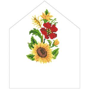 Схема Спасівська хустинка на букет для вишивки бісером і нитками на тканині ТР573пн2025