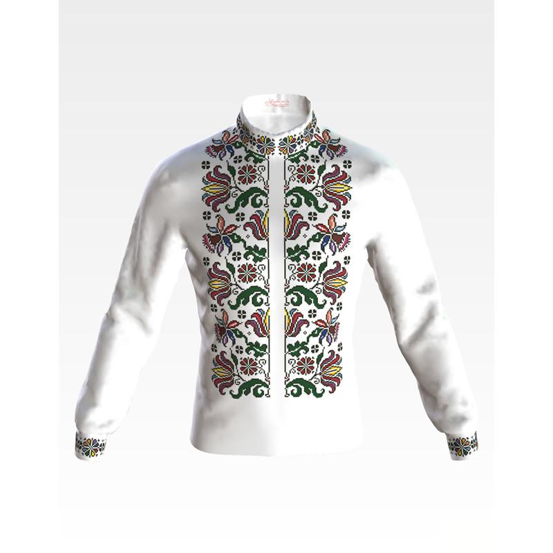 СЧ042кБнннн Заготовка для вишивання бісером чоловічої сорочки - вишиванки ba24e42dc29af
