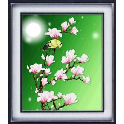 """Набір для малювання камінцями 5D """"Місячна ніч"""" LasKo 5D-020"""