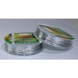 Mеталізована нитка люрекс Adel, № 80-03 срібна, 100 м. Spark Beads 80-03