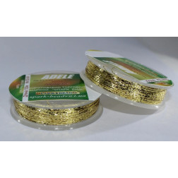 Mеталізована нитка люрекс Adel, № 80-04 світло-золота, 100 м. Spark Beads 80-04