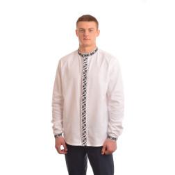 Сорочка-вишиванка чоловіча вишита вручну хрестиком АС001дБ5401_005