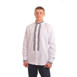 Сорочка-вишиванка чоловіча вишита вручну хрестиком АС009дБ5602_005
