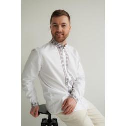 Сорочка-вишиванка чоловіча вишита машинною вишивкою хрестиком АС305хБ5202_030