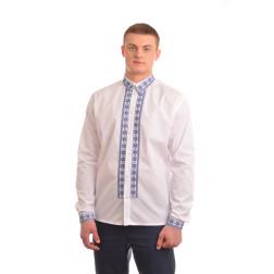 Сорочка-вишиванка чоловіча вишита машинною вишивкою хрестиком АС305хБ5403_008