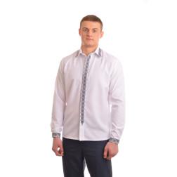 Сорочка-вишиванка чоловіча вишита машинною вишивкою хрестиком АС308хБ5004_029