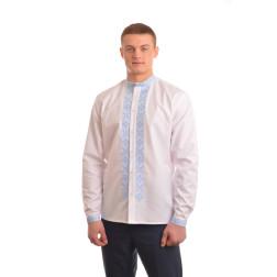 Сорочка-вишиванка чоловіча вишита машинною вишивкою хрестиком АС314хБ5002_025