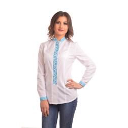 Блузка-вишиванка жіноча вишита машинною вишивкою хрестиком АЖ309хБ4201_030