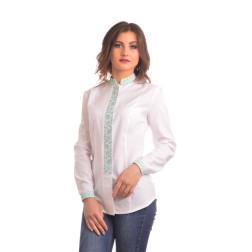Блузка-вишиванка жіноча вишита машинною вишивкою хрестиком АЖ309хБ4601_027