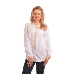 Блузка-вишиванка жіноча вишита машинною вишивкою хрестиком АЖ309хБ4801_021
