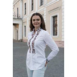 Блузка-вишиванка жіноча вишита машинною вишивкою хрестиком АЖ316хБ4402_024
