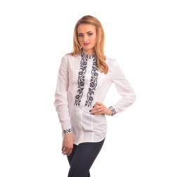 Блузка-вишиванка жіноча вишита машинною вишивкою хрестиком АЖ316хБ4602_005