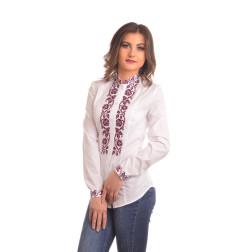 Блузка-вишиванка жіноча вишита машинною вишивкою хрестиком АЖ316хБ4802_007