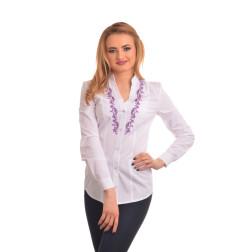 Блузка-вишиванка жіноча вишита машинною вишивкою хрестиком АЖ342хБ4203_032