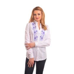 Блузка-вишиванка жіноча вишита машинною вишивкою хрестиком АЖ343хБ4603_031