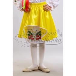 Набір бісеру Preciosa для вишивки бісером до заготовки дитячої спіднички – вишиванки на 3-5 років Сунички БС001дБ28ннb