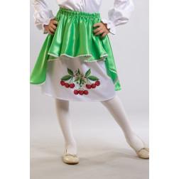 Заготовка дитячої спіднички – вишиванки на 3-5 років Вишеньки для вишивки бісером БС002кБ28нн
