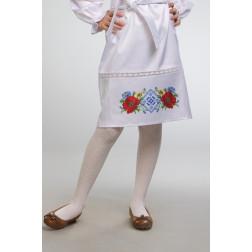 Заготовка дитячої спіднички – вишиванки на 3-5 років Маки орнамент для вишивки бісером БС003кБ28нн