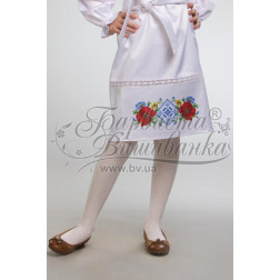 Набір бісеру Preciosa для вишивки бісером до заготовки дитячої спіднички – вишиванки на 3-5 років Маки орнамент БС003дБ28ннb