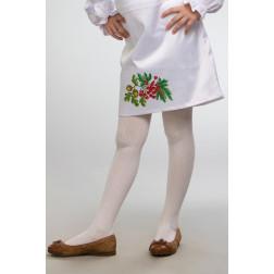Заготовка дитячої спіднички – вишиванки на 3-5 років Калина і дубок для вишивки бісером БС007кБ28нн