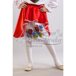 Набір бісеру Preciosa для вишивки бісером до заготовки дитячої спіднички – вишиванки на 3-5 років Польова БС008дБ28ннb