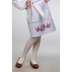 Заготовка дитячої спіднички – вишиванки на 3-5 років Троянди для вишивки бісером БС009кБ28нн