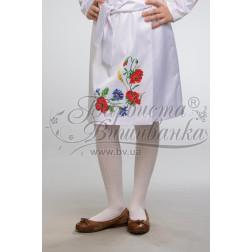 Набір бісеру Preciosa для вишивки бісером до заготовки дитячої спіднички – вишиванки на 3-5 років Маки, волошки, колоски БС010дБ28ннb