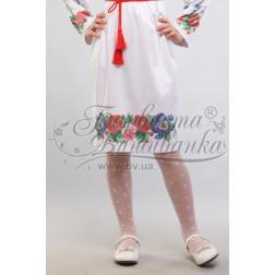 Набір бісеру Preciosa для вишивки бісером до заготовки дитячої спіднички – вишиванки на 3-5 років Мальви, троянди, братки БС013дБ28ннb